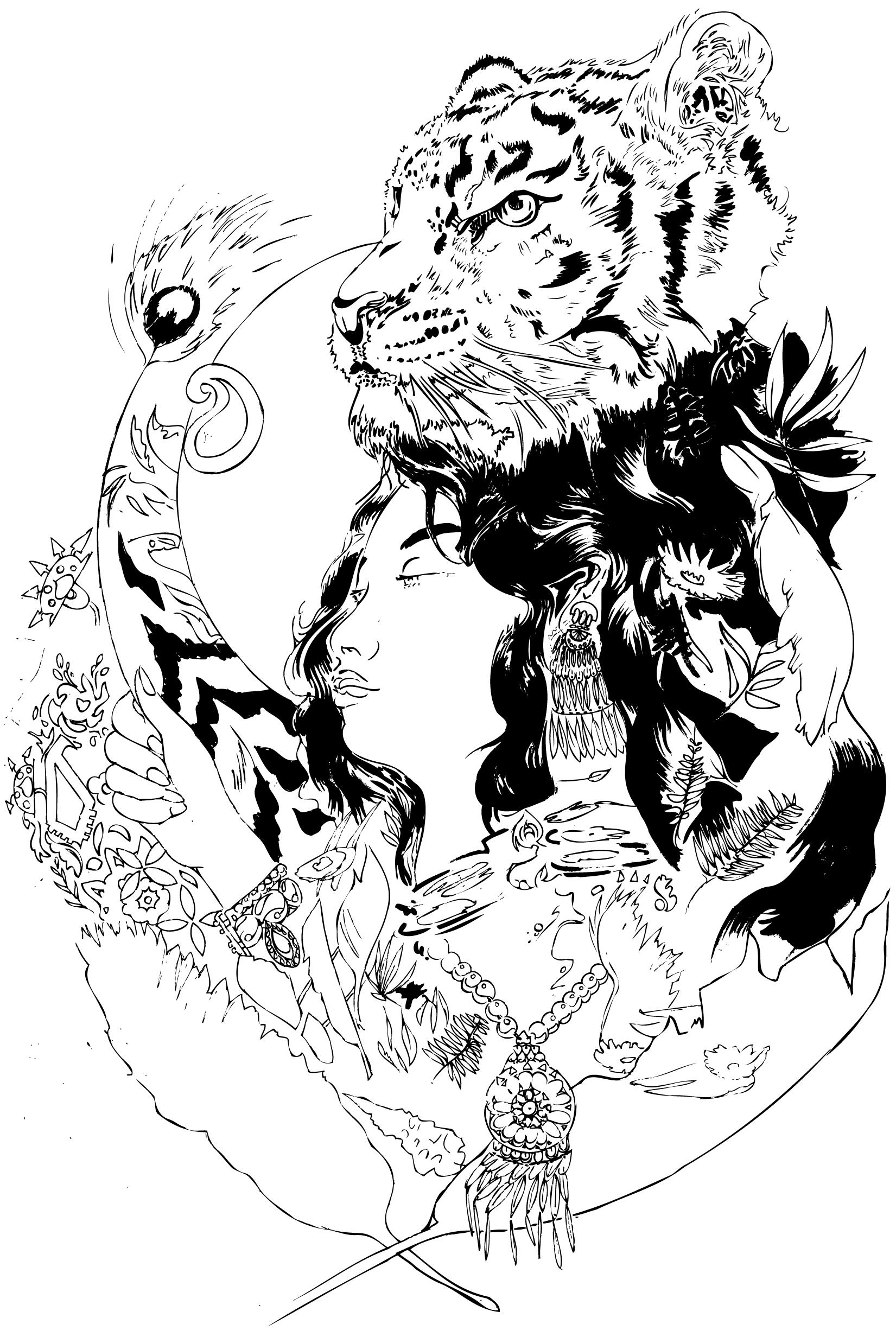 Line Art Poster : Illustration masscreate